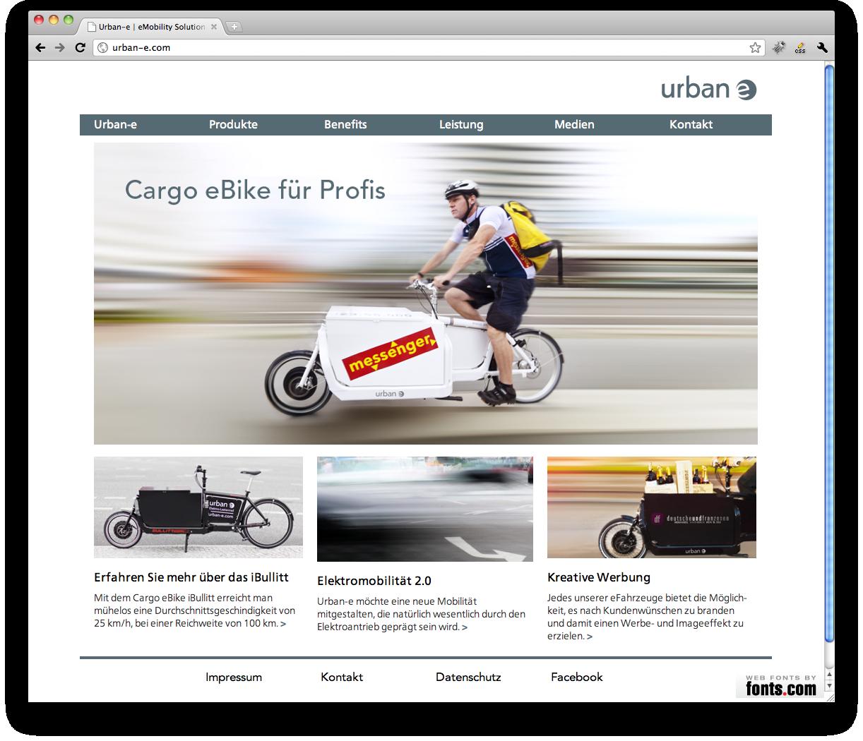 Urban-e website from Realgestalt