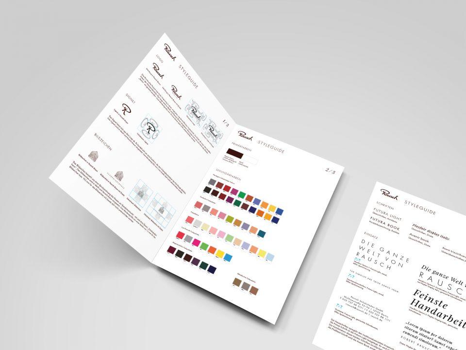 Mit den Guidelines der CI Agentur Realgestalt steuert Rausch das Brand Design der Marke. In den Guidelines sind für Mitarbeiter und Partner die Gestaltungsprinzipien für sämtliche Anwendungen dokumentiert.