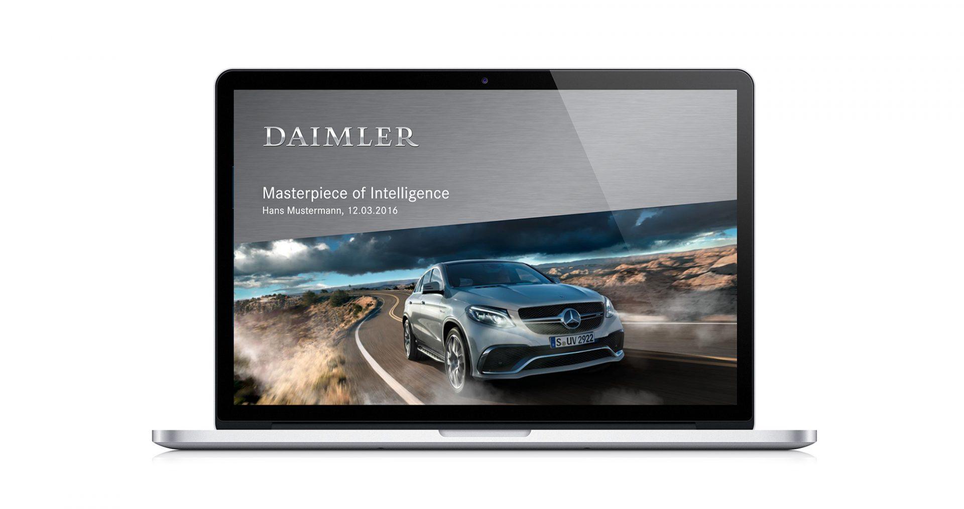 Daimler Corporate Design Webdesign