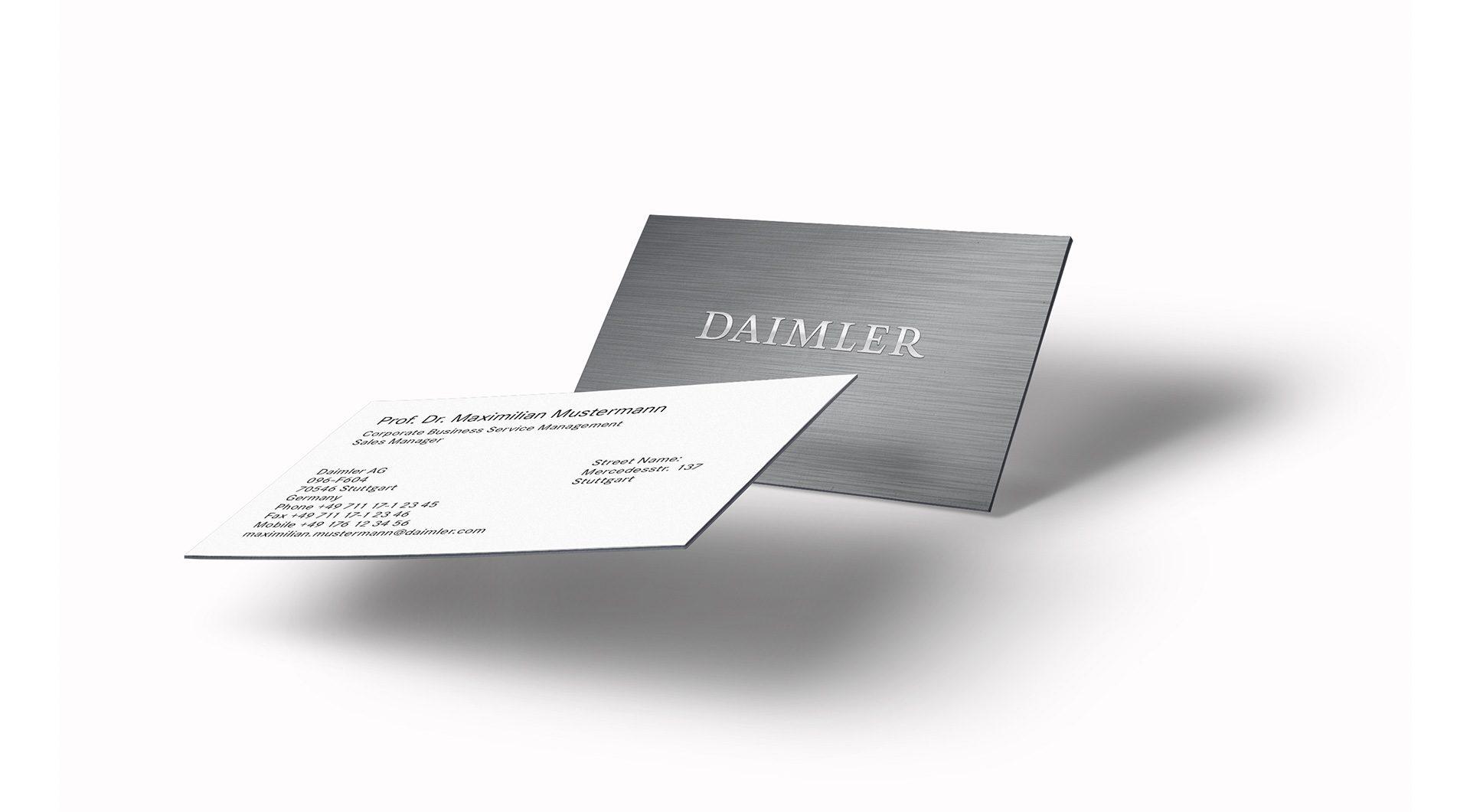 Daimler Corporate Design Visitenkarte