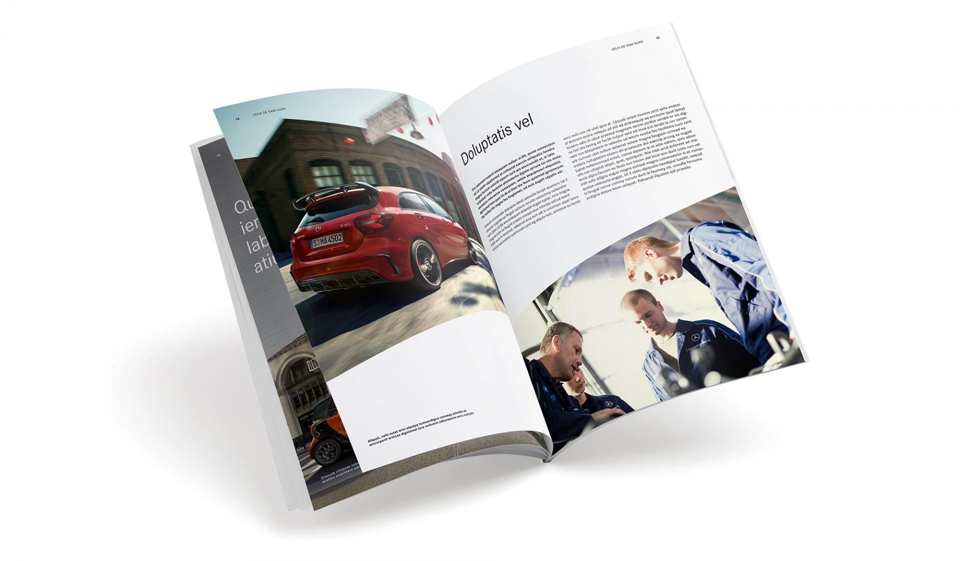 Daimler Corporate Design Editorial Magazin