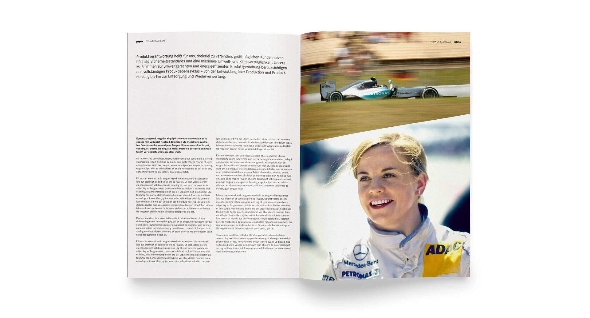 Daimler Corporate Design Editorial Broschüre
