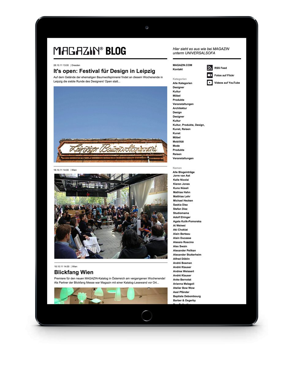 Magazin Multichannel Communication Magazin-Blog iPad