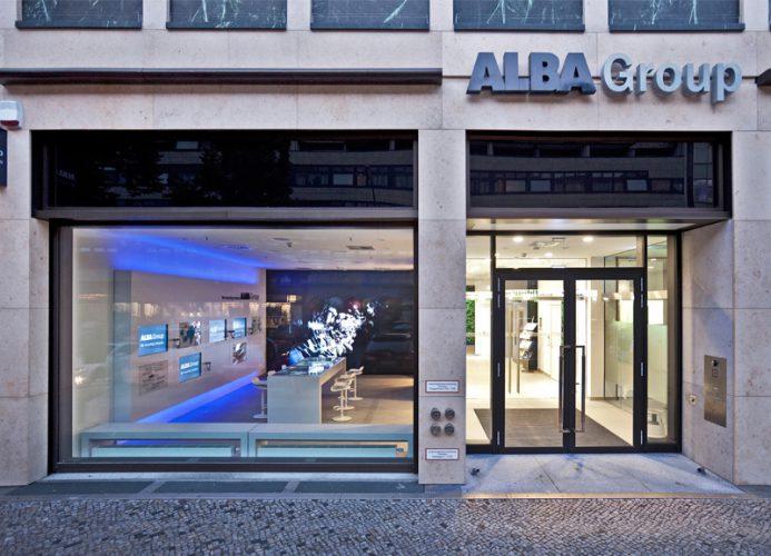 Alba Corporate Design Brand Identity Showroom Gebäude