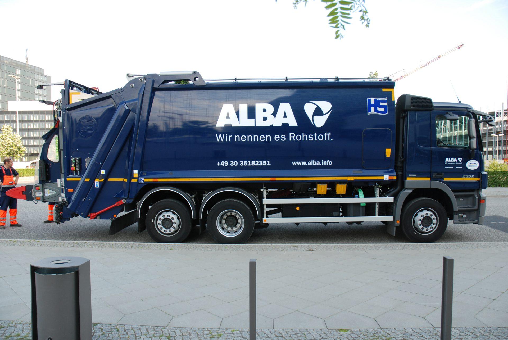 Alba Corporate Design Brand Identity Logo von Realgestalt auf LKW