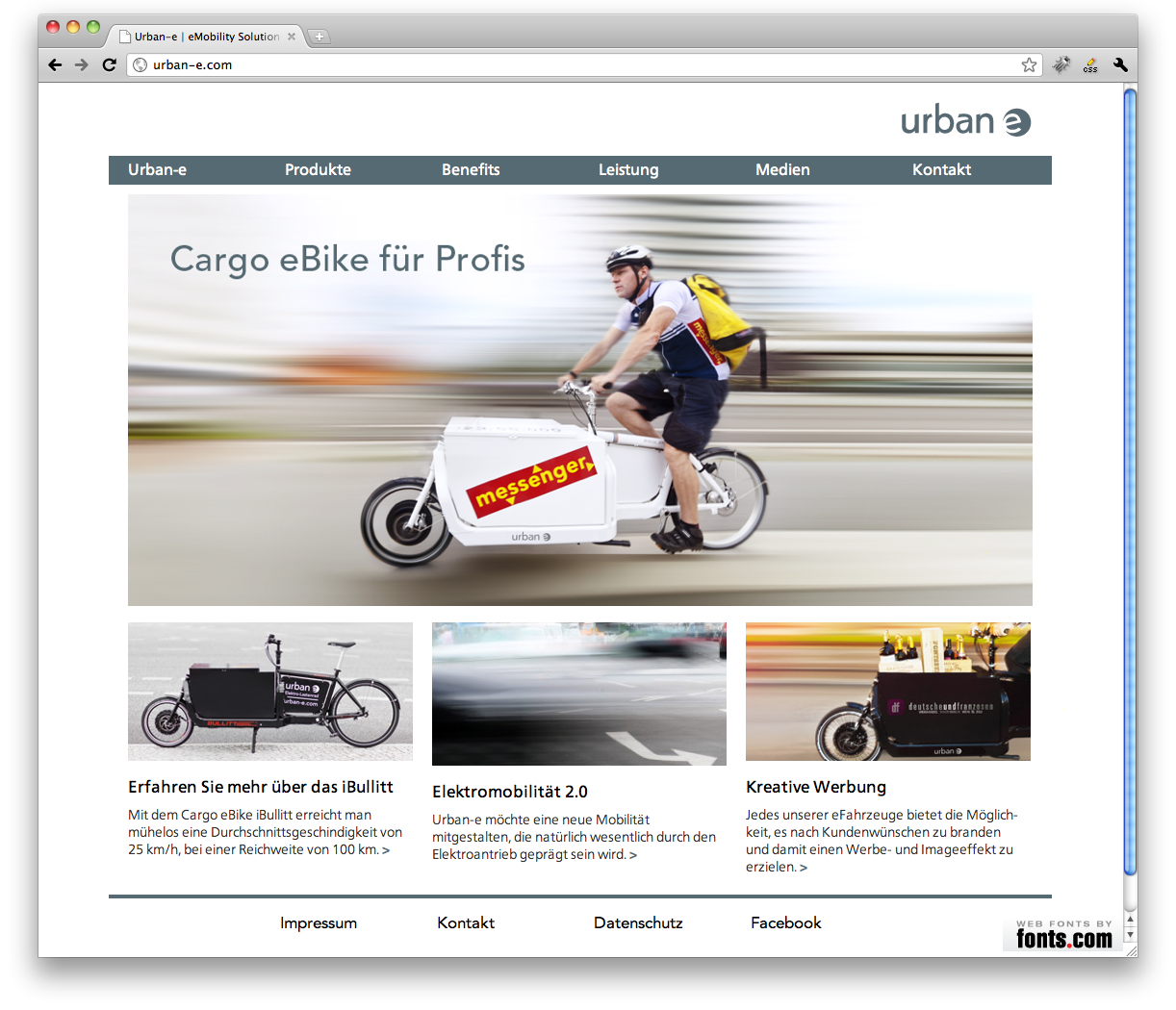 Urban-e website from Realgestalt