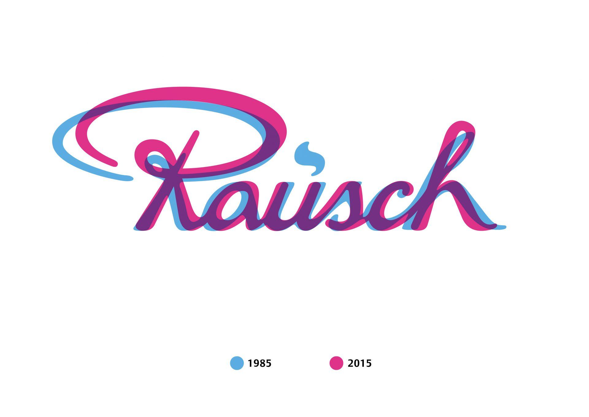 Rausch Logo Alt und Neu im Vergleich