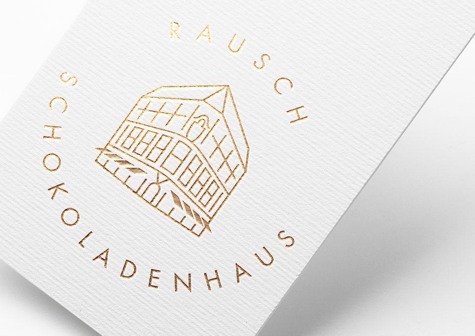Rausch Corporate Design Schokoladenhaus Logsprint
