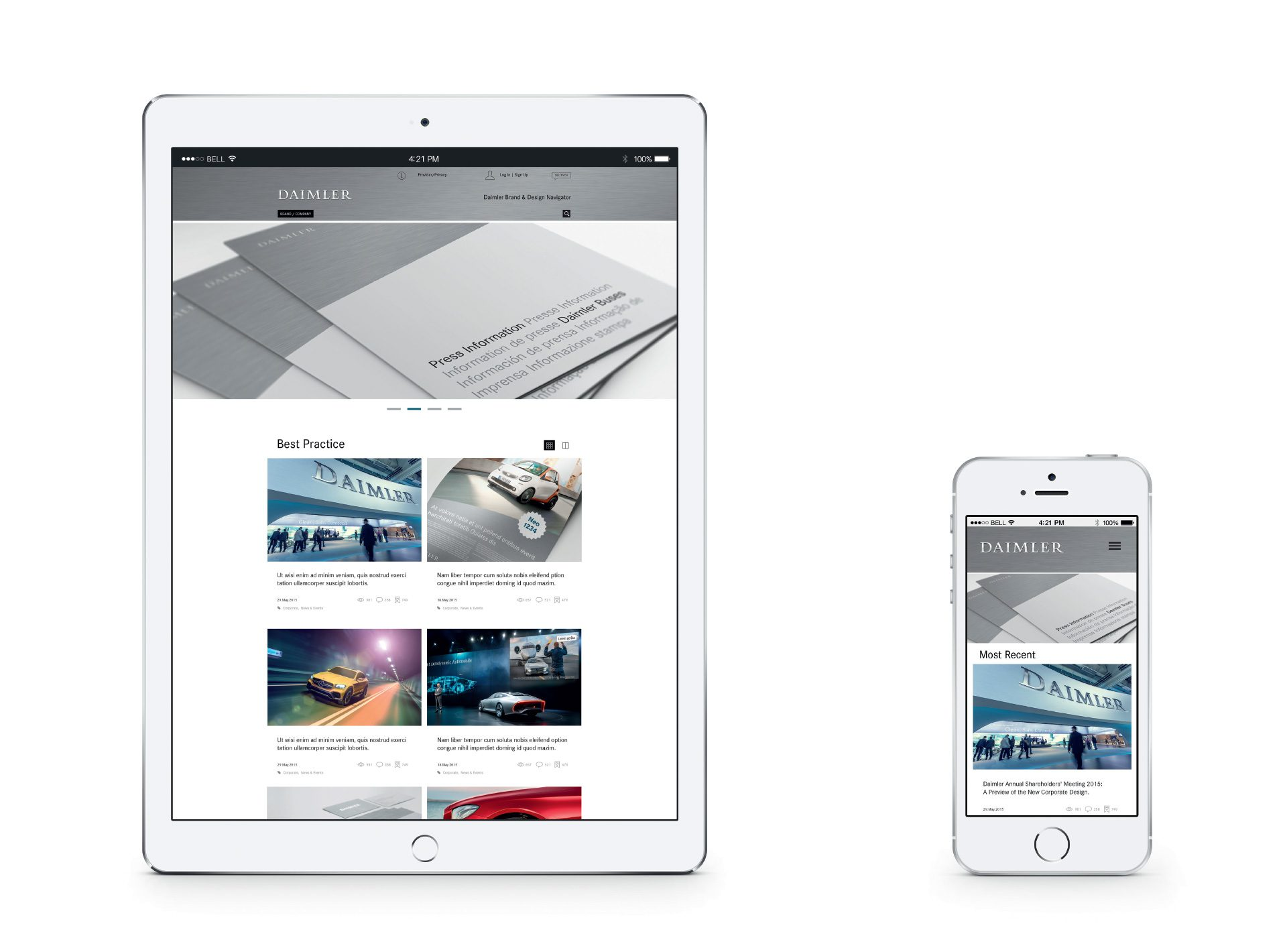 Daimler Corporate Design Website