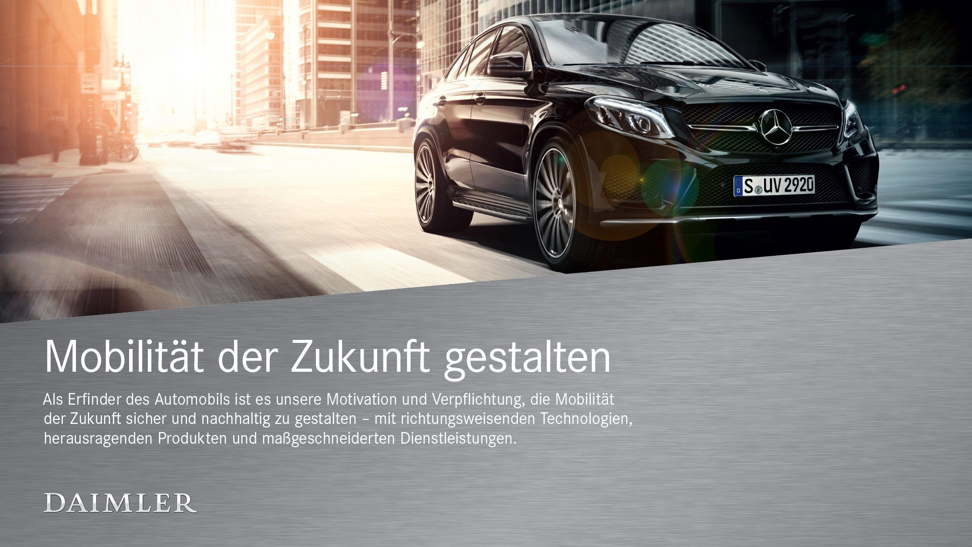 Daimler Corporate Design Werbung