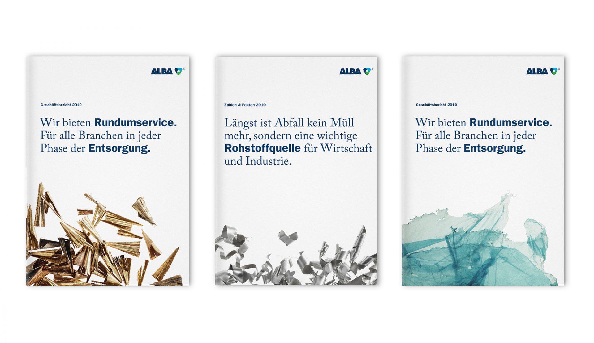 Alba Group Geschäftsberichte. Corporate Design von Realgestalt