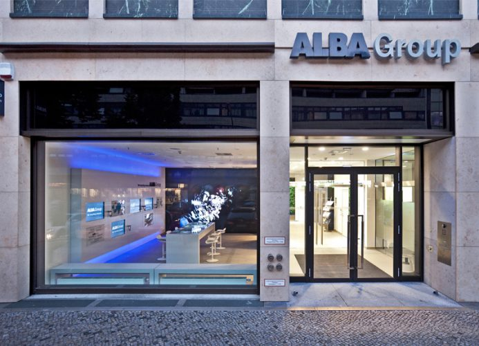 Alba Corporate Design Brand Identity Showroom Gebäude