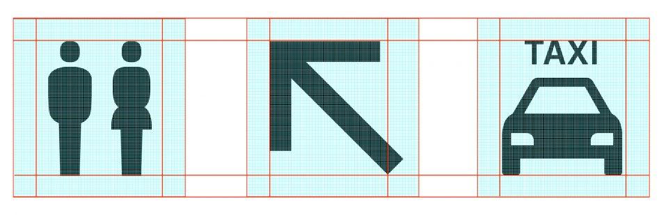BER Piktogramm Entwurf