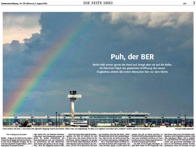 Berichterstattung BER in der Süddeutschen Zeitung