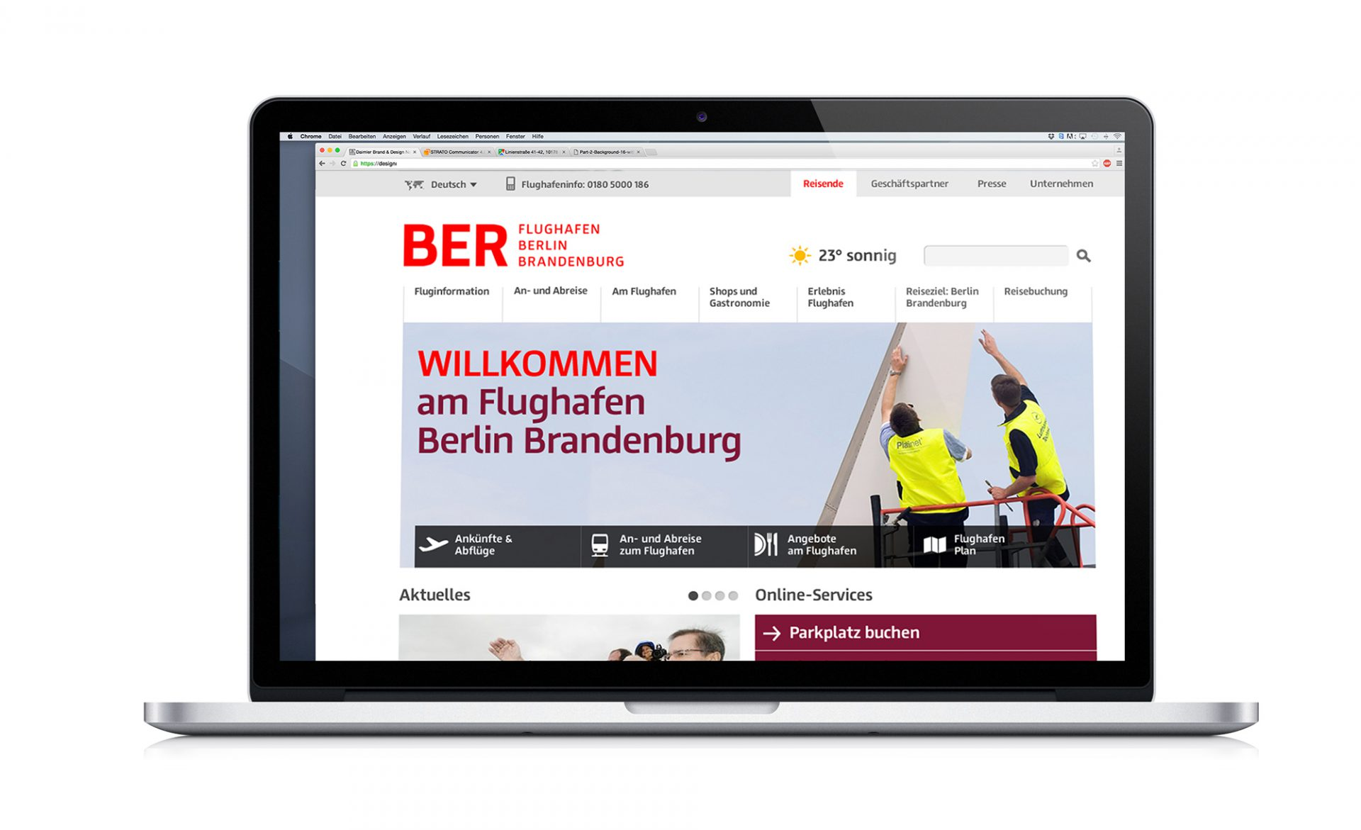 BER Corporate Design Website
