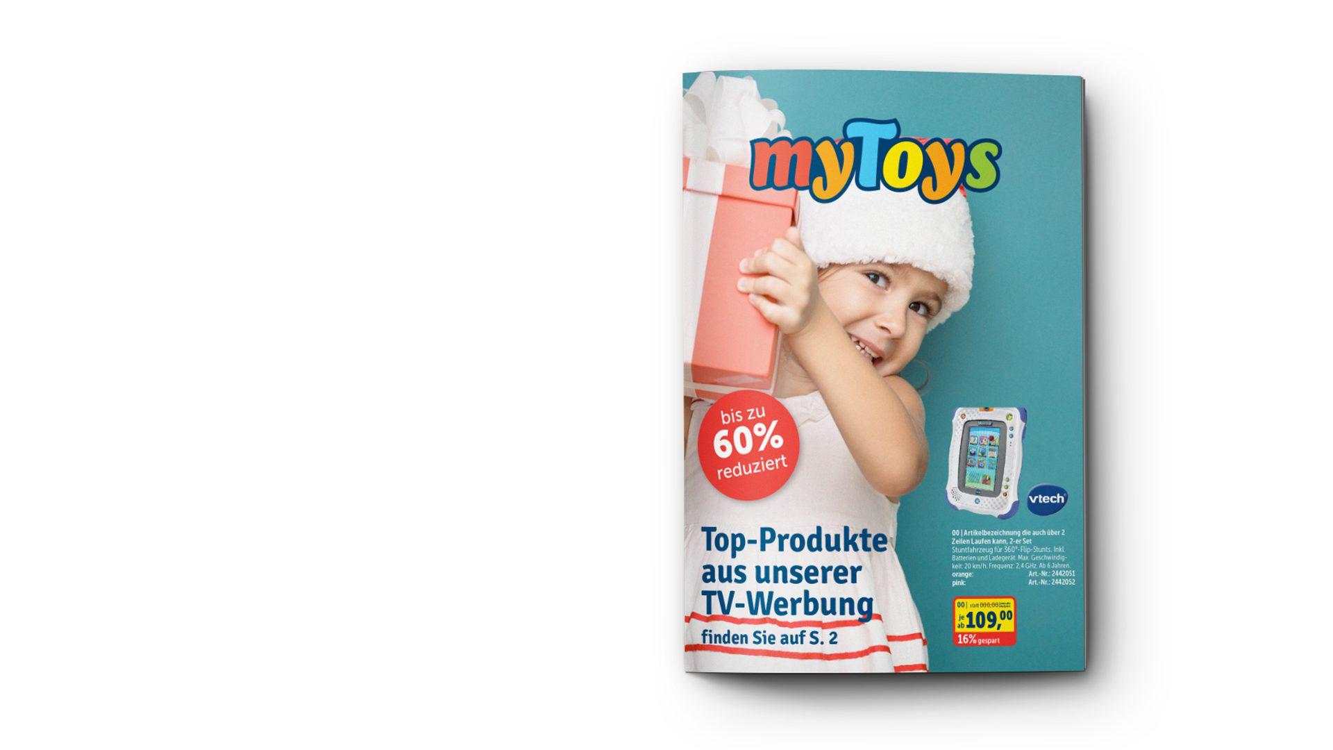 Titelseite des MyToys-Katalogs. Brand Design von Realgestalt