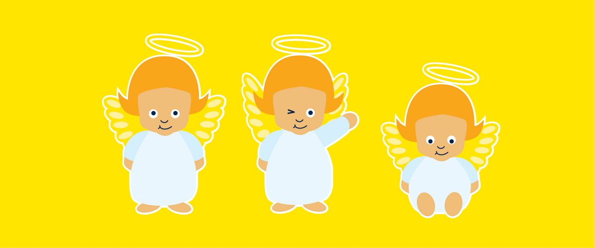 Illustrationen von Engeln für myToys. Brand Design von Realgestalt