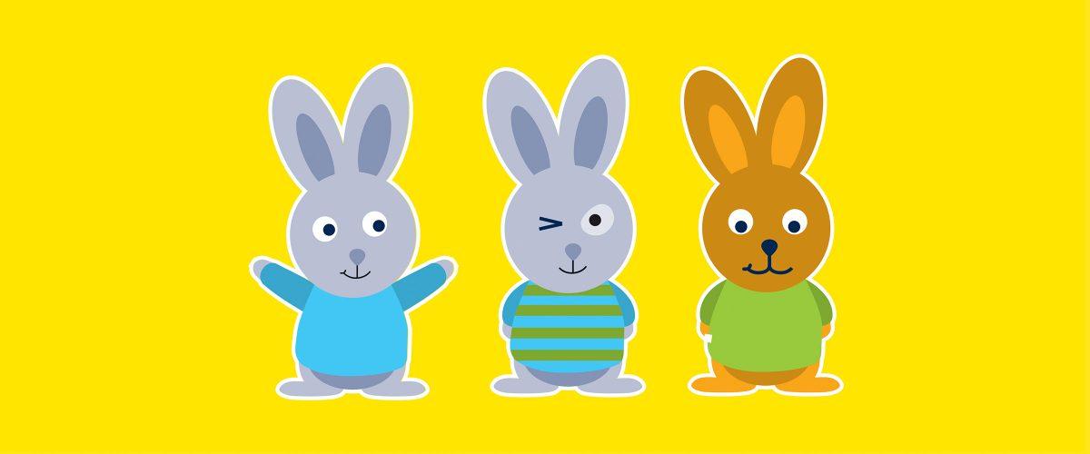 Illustrationen von Hasen für myToys. Brand Design von Realgestalt