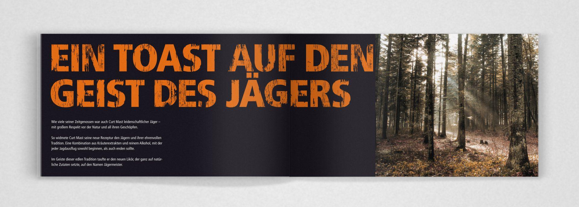 Broschüre für Mitarbeiter zum neuen Brand Design von Jägermeister entwickelt von Realgestalt