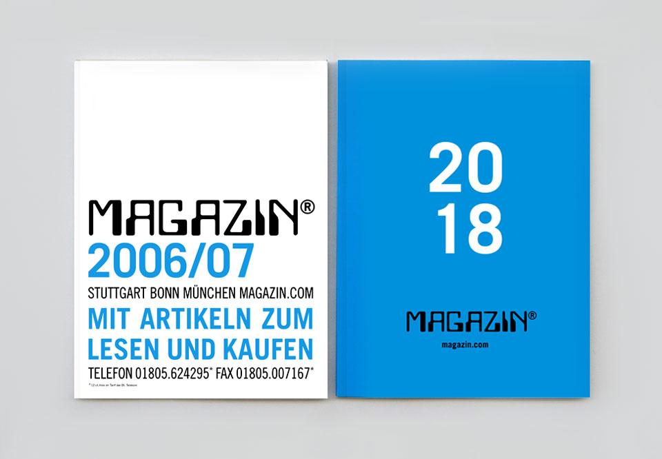 neue Cover-Farbe für den Magazinkatalog 2018: Cyan (Blau, vollflächig)